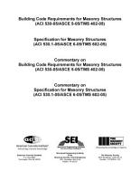 Building Code Requirements for Masonry Structures  ACI 530 05 ASCE 5 05 TMS 402 05  PDF