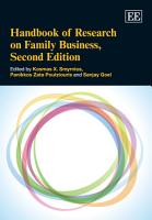 Handbook of Research on Family Business PDF