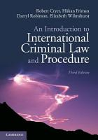An Introduction to International Criminal Law and Procedure PDF
