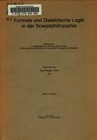 Formale und dialektische Logik in der Sowjetphilosophie PDF