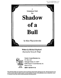 A Guide for Using Shadow of a Bull in the Classroom PDF