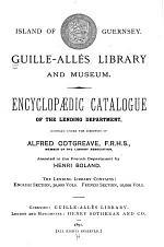 ... Encyclopædic Catalogue ...