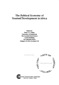 The Political Economy of Tourism Development in Africa PDF
