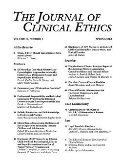 The Journal of Clinical Ethics PDF