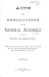 Acts and Resolutions of the General Assembly ...