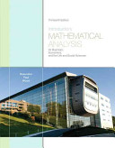 Introductory Mathematical Analysis for Business  Economics  and the Life and Social Sciences PDF
