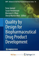 Quality by Design for Biopharmaceutical Drug Product Development PDF