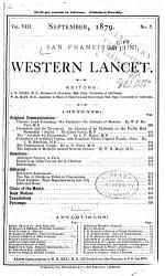 The San Francisco Western Lancet  a Journal of Practical Medicine and Surgery PDF