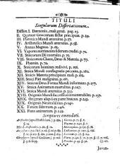 Exercitatio de stoica mundi exustione: cui accesserunt argumenti varii, sed in primis ad historiam stoicae philosophiae facientes, dissertationes XXI.