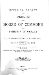 Official Reports of the Debates of the House of Commons of the Dominion of Canada: Volume 1