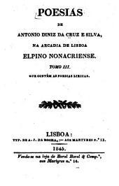 Poesias: na Arcadia de Lisboa, Elpino Nonacriense, Volume 3