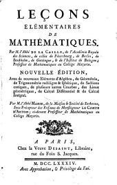 Leçons élémentaires de mathématiques