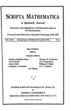 Scripta Mathematica PDF