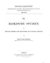 Baskische Studien: Band 1