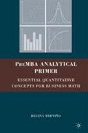PreMBA Analytical Primer