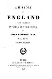 A history of England: from the first invasion by the Romans, Volume 6