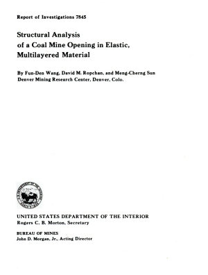 Structural Analysis of a Coal Mine Opening in Elastic Multilayered Material
