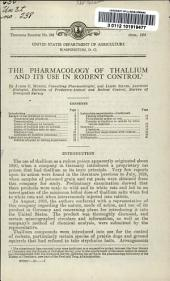 The pharmacology of Thallium and its use in rodent control