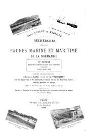 Recherches sur les faunes marine et maritime de la Normandie: Volume1