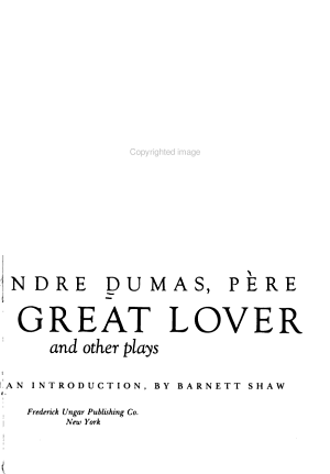 The Great Lover and Other Plays