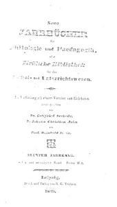 Jahnscher Jahrbücher für Philologie und Paedagogik: Bände 27-28