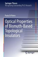 Optical Properties of Bismuth Based Topological Insulators PDF