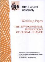 Workshop Report on the Environmental Implications of Global Change PDF