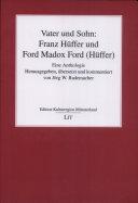 Vater und Sohn  Franz H  ffer und Ford Madox Ford  H  ffer