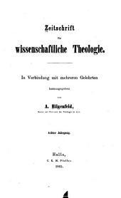 Zeitschrift für wissenschaftliche Theologie: Band 8