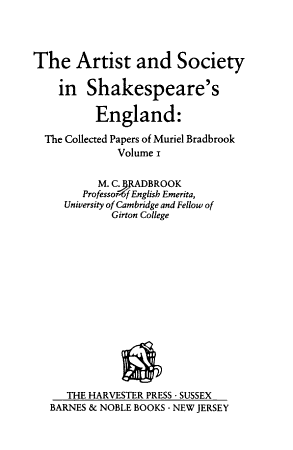 The Artist and Society in Shakespeare s England PDF