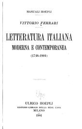 Letteratura italiana moderna e contemporanea (1748-1901): Volume 3