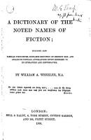 A Dictionary of the Noted Names of Fiction PDF