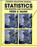Statistics for Business and Economics  Student Solutions Manual PDF