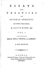 Essays, moral, political, and literary.- v. 2. An inquiry concerning human understanding. A dissertation on the passions. An inquiry concerning the principles of morals. The natural history of religion