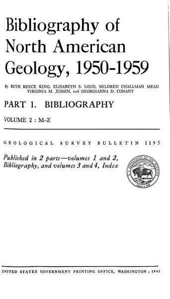 Annotated Bibliography Of Geology Of The Sedimentary Basin Of Alberta And Of Adjacent Parts Of British Columbia And Northwest Territories 1845 1955