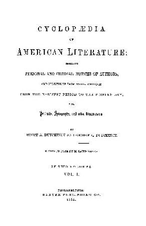 CYCLOPAEDIA OF AMERICAN LITERATURE PDF