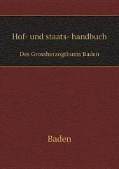 Hof- und staats- handbuch