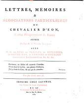 Lettres, mémoires et négociations particulières ... avec M. M. les Ducs de Praslin, de Nivernois (etc.)