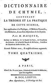 Dictionnaire de chymie contenant la théorie et la pratique de cette science ...