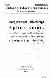 Georg Christoph Lichtenbergs Aphorismen: nach den handschriften, Ausgabe 140