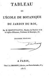 Tableau de l'ecole de botanique du Museum d'histoire naturelle