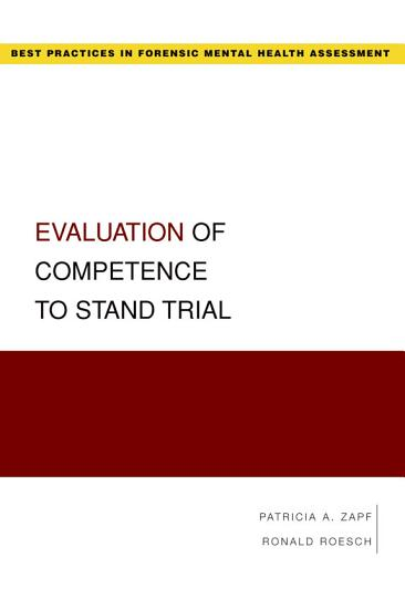 Evaluation of Competence to Stand Trial PDF