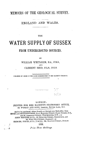 The water supply of Sussex, from underground sources