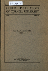 Cornell University Announcements: Volume 5, Issue 16