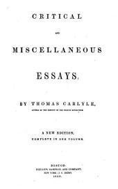 Critical and Miscellaneous Essays: By Thomas Carlyle, Volume 5
