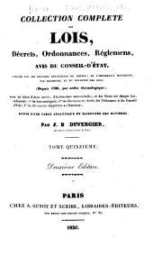 Collection complète des lois, décrets d'intérét général, traités interanationaux, arrêtés, circulaires, instructions, etc: Volumes15à16