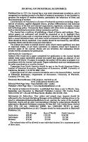 THE JOURNAL OF INDUSTRIAL ECONOMICS PDF