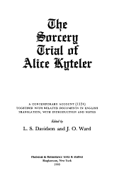 The Sorcery Trial Of Alice Kyteler Book PDF