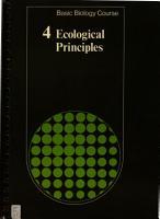 Basic Biology Course Unit 2  Volume 4  Ecological Principles PDF