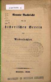 Nachricht über den Historischen Verein für Niedersachsen: Ausgabe 9